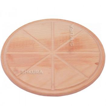 Доска для пиццы 30 см, с желобками