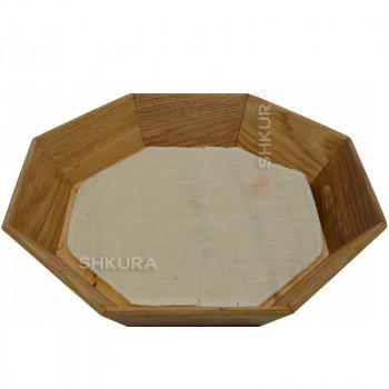 Деревянная тарелка 25